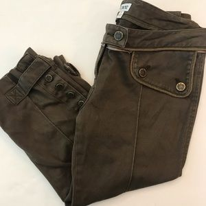 Cache Olive Green Capris Size 6